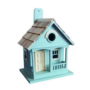 Monterey Coastal Cottage Birdhouse In  Lt. Blue