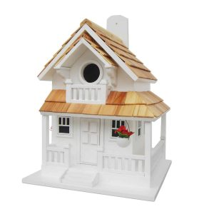 Courtyard Cottage Birdhouse In White