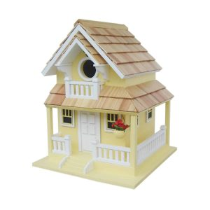 Courtyard Cottage Birdhouse In Yellow