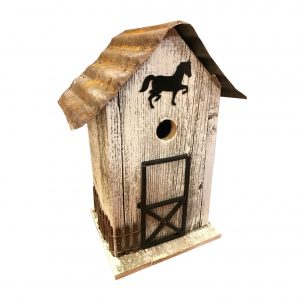 Clark Stable  Birdhouse In White