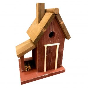 Sawyer Cottage Birdhouse In Red