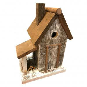 Sawyer Cottage Birdhouse In White