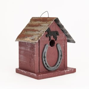 Lucky Charm Birdhouse In Red