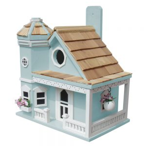 Blossom House Cottage Birdhouse In Blue