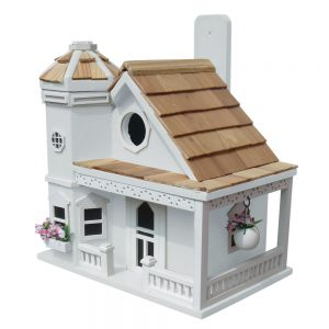 Blossom House Cottage Birdhouse In White