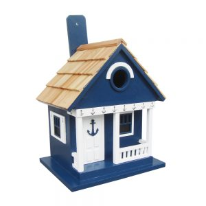 Navy Anchor Cottage Birdhouse