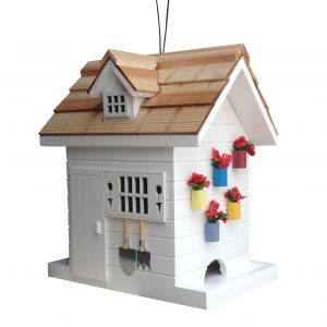 Garden Shed Feeder In White
