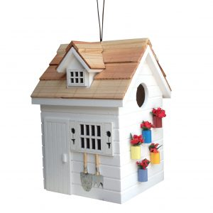 Garden Shed Birdhouse In White
