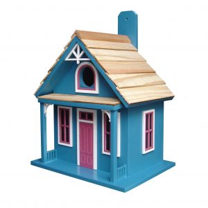 Aptos Cottage Birdhouse In Blue