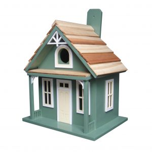 Aptos Cottage Birdhouse In Green