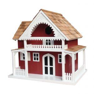 Dering Harbor Cottage Birdhouse In Red