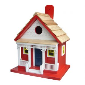 West Coast Cottage Birdhouse In Red