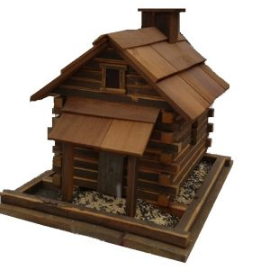 Buck's County Feeder, Large In Natural Cedar