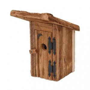 Mountain Privy Outhouse In Natural Wood