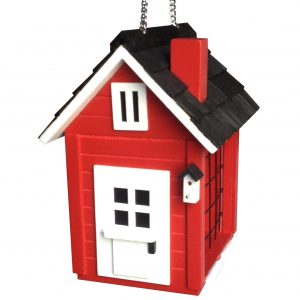 Red Suet Shack Feeder In Red