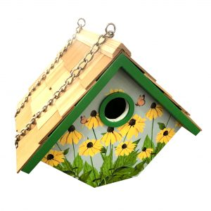 Garden Wren Birdhouse With Black Eyed Susan