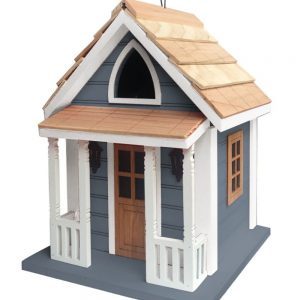 Princess Cottage Birdhouse In Gray