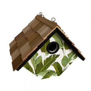 Garden Wren Birdhouse With Palm Leaves