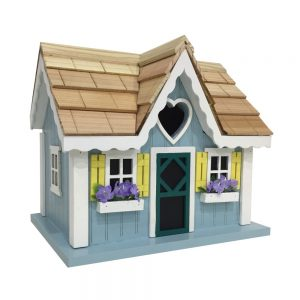 The Darling Cottage Birdhouse In Blue