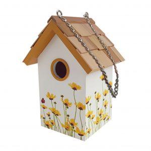 Garden Standard Birdhouse With Daisy
