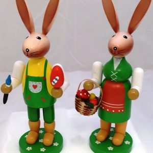 Wooden Easter Standing Bunny Girl And Boy – 2 Piece Set