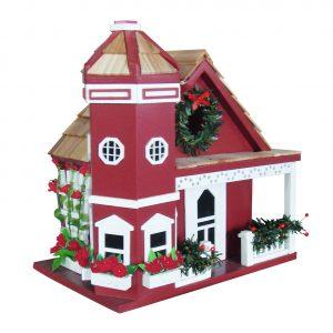 Yuletide Cottage Birdhouse – Red