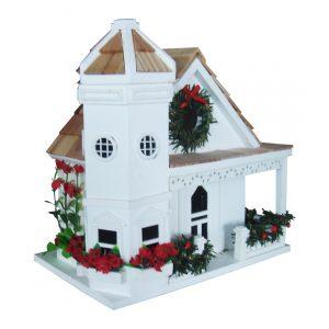 Yuletide Cottage Birdhouse – White