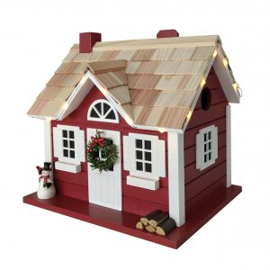Easton Cottage Birdhouse W/Lights